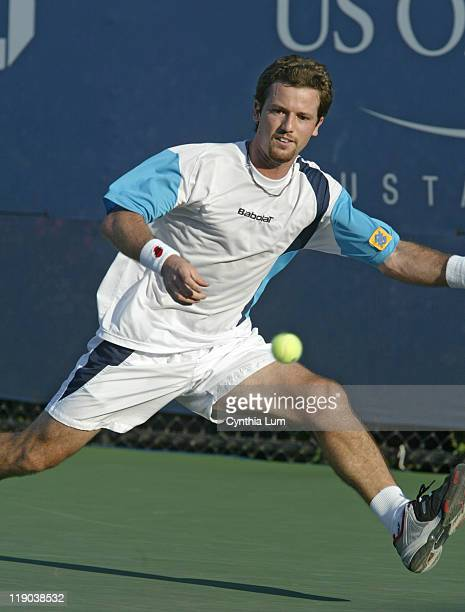 Ricardo Mello during his second round match against Tomas Berdych in the second round of the 2005 US Open at the USTA National Tennis Center in...