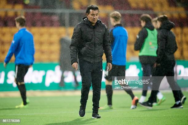 Ricardo Moniz head coach of Randers FC looks dejected after the Danish Alka Superliga match between FC Nordsjalland and Randers FC at Right to Dream...