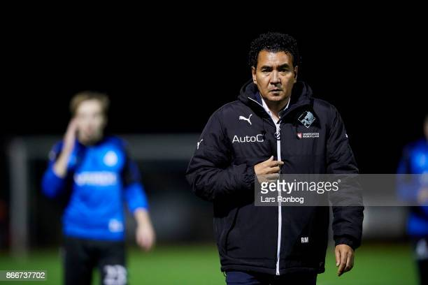 Ricardo Moniz head coach of Randers FC prior to the Danish Alka Superliga match between Randers FC and AaB Aalborg at BioNutria Park on October 23...