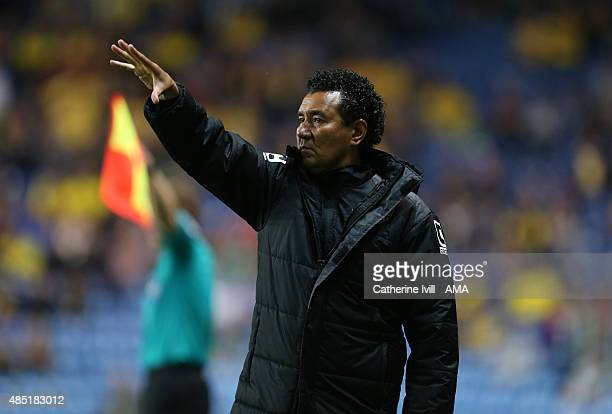Ricardo Moniz manager of Notts County during the Sky Bet League Two match between Oxford United and Notts County at Kassam Stadium on August 18 2015...