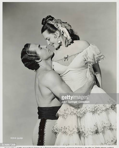 Ricardo Montalban and Cyd Charisse in Mark of the Renegade