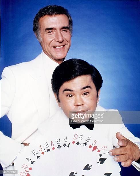 Ricardo Montalban and Herve Villechaize as Mr. Roarke and Tattoo in the American television series 'Fantasy Island', circa 1980.