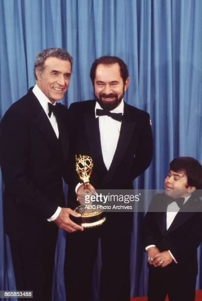 Ricardo Montalban, Stuart Margolin and Herve Villechaize at The 31st Annual Primetime Emmy Awards on September 9, 1979 at the Pasadena Civic...