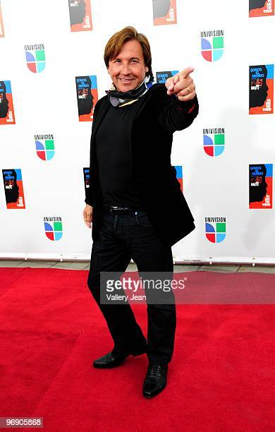 Ricardo Montaner arrives at recording of Somos El Mundo 25 para Haiti We Are The World by Latin recording artits at American Airlines Arena on...