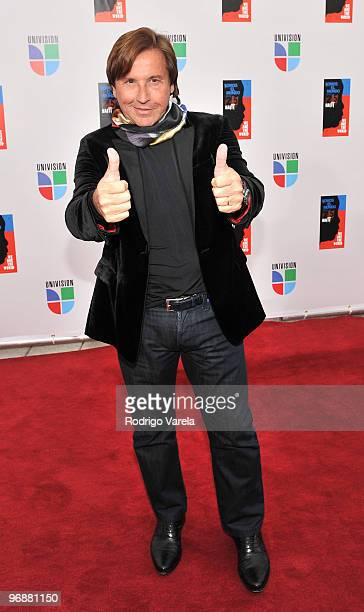 Ricardo Montaner arrives at recording of Somos El Mundo We Are The World by Latin recording artist at American Airlines Arena on February 19 2010 in...