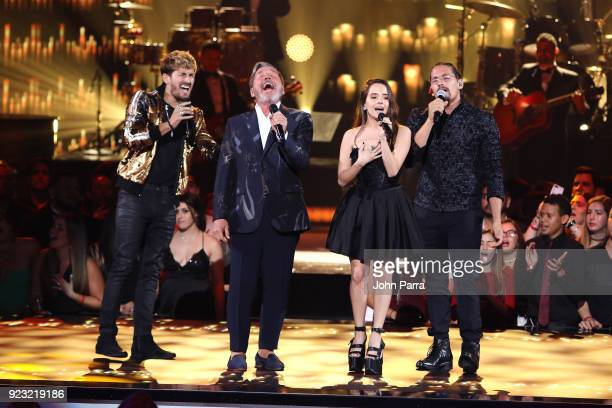 Ricardo Montaner con hijos perform onstage at Univision's 30th Edition Of 'Premio Lo Nuestro A La Musica Latina' at American Airlines Arena on...