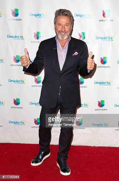 Ricardo Montaner is seen on the set of Despierta America at Univision Studios on October 24 2016 in Miami Florida