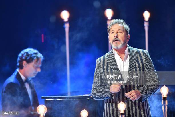 Ricardo Montaner performs onstage during Univision's 29th Edition of Premio Lo Nuestro A La Musica Latina at the American Airlines Arena on February...
