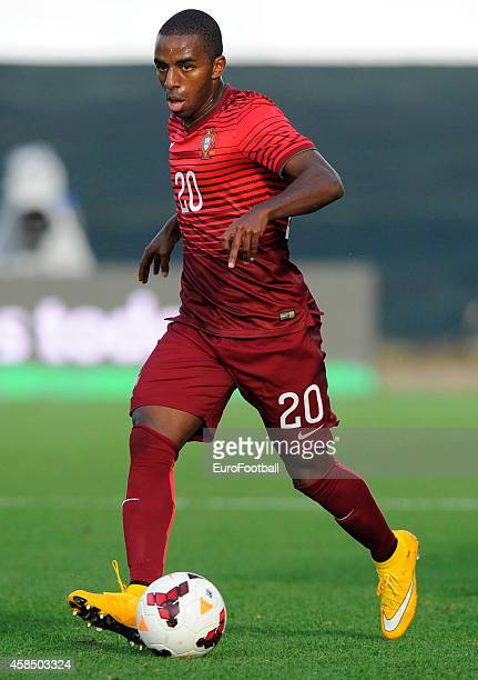 Ricardo of Portugal in action during the UEFA U21 Championship second leg playoff between Portugal and Netherlands at the Mata Real Stadium on...