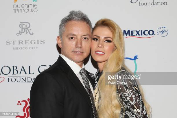 Ricardo Orrantia and Daisy Calderon attend The Global Gift Gala Mexico 2017 at St Regis Hotel on November 1 2017 in Mexico City Mexico