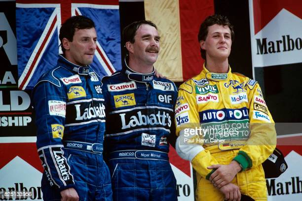 Ricardo Patrese Nigel Mansell Michael Schumacher Grand Prix of Mexico Hermanos Rodriguez 22 March 1992
