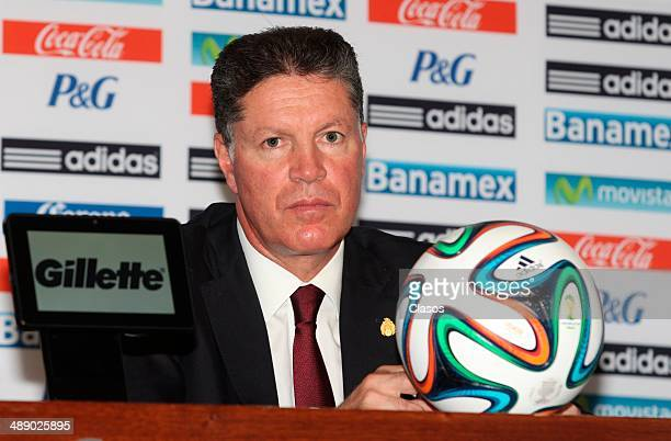 Ricardo Pelaez Athletic Director of Mexico's National Team attends the announcement of the final list of players to face the 2014 FIFA World Cup in...