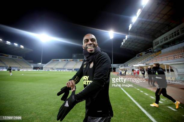 Ricardo Pereira of Leicester City during a training session ahead of the UEFA Europa League Group G stage match between Leicester City and Zorya...