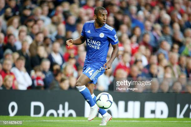Ricardo Pereira of Leicester City during the Premier League match between Manchester United and Leicester City at Old Trafford on August 10 2018 in...