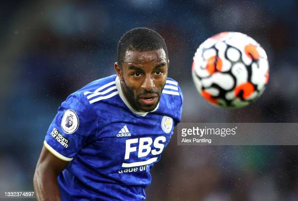 Ricardo Pereira of Leicester City heads the ball during a Pre Season Friendly match between Leicester City and Villarreal CF at The King Power...