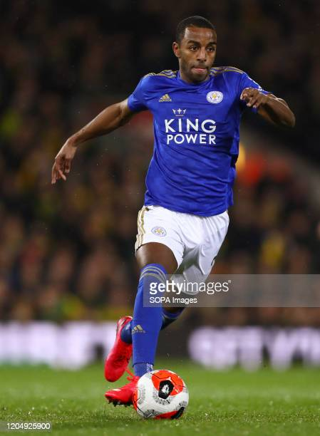 Ricardo Pereira of Leicester City in action during the Premier League match between Norwich City and Leicester City at Carrow Road Final Score...