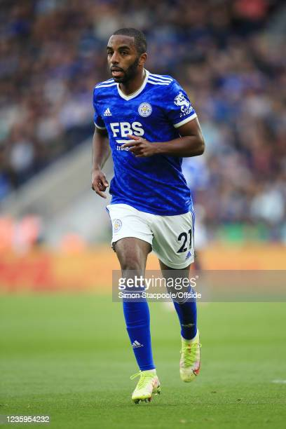 Ricardo Pereira of Leicester City looks on during the Premier League match between Leicester City and Manchester United at The King Power Stadium on...
