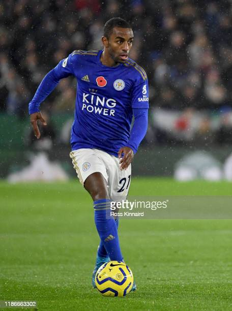 Ricardo Pereira of Leicester in action 11during the Premier League match between Leicester City and Arsenal FC at The King Power Stadium on November...