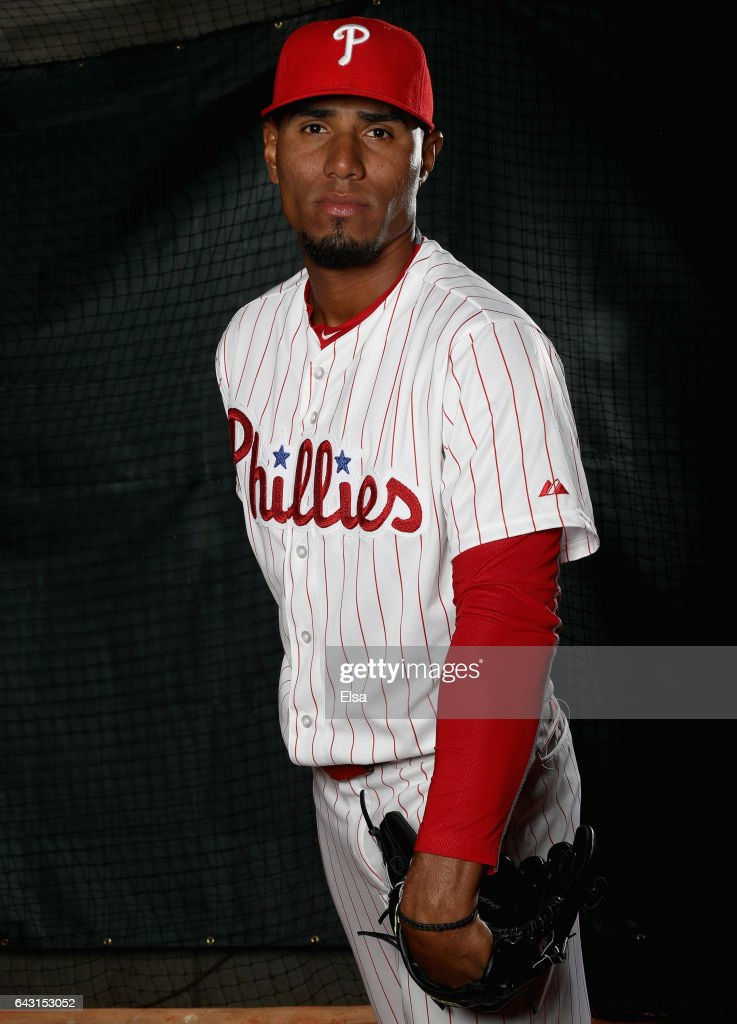 Ricardo Pinto #73 of the Philadelphia Phillies poses for a portrait during the Philadelphia Phillies photo day on February 20, 2017 at Spectrum Field in Clearwater, Florida.