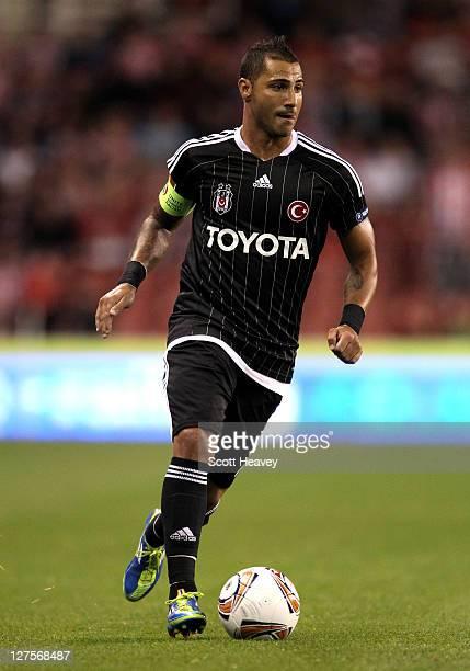Ricardo Quaresema of Besiktas JK in action during the UEFA Europa League Group E match between Stoke City and Besiktas JK at the Britannia Stadium on...