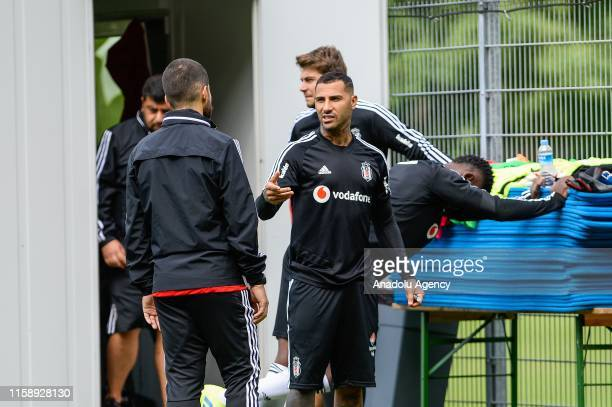 Ricardo Quaresma from Besiktas attends a training session within summer camp as part of the Turkish Super Lig new season preparations in Saalfelden,...