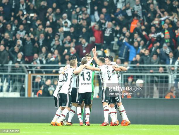 Ricardo Quaresma of Besiktas celebrates after scoring a goal during a Turkish Super Lig soccer match between Besiktas and Fenerbahce at Vodafone Park...