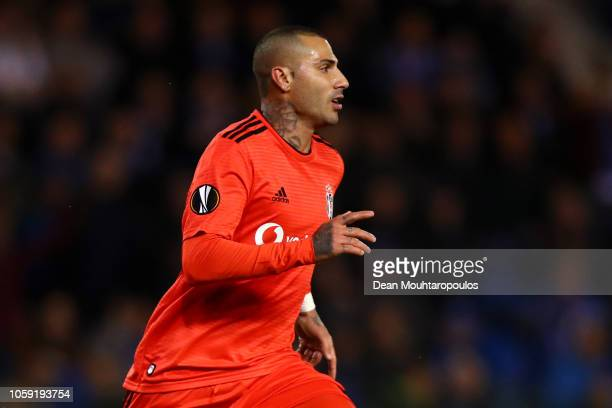Ricardo Quaresma of Besiktas celebrates as he scores his team's first goal during the UEFA Europa League Group I match between KRC Genk and Besiktas...