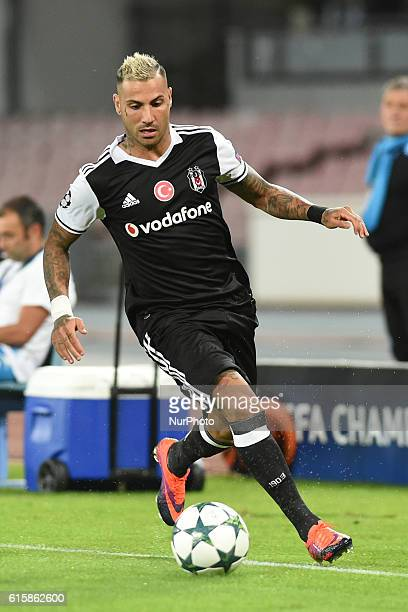 Ricardo Quaresma of Besiktas during the UEFA Champions League match between SSC Napoli and Besiktas at Stadio San Paolo Naples Italy on 19 October...