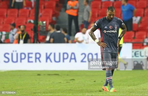 Ricardo Quaresma of Besiktas gestures after his team lost at the end of the Turkcell Super Cup match between Besiktas and Atiker Konyaspor at Samsun...