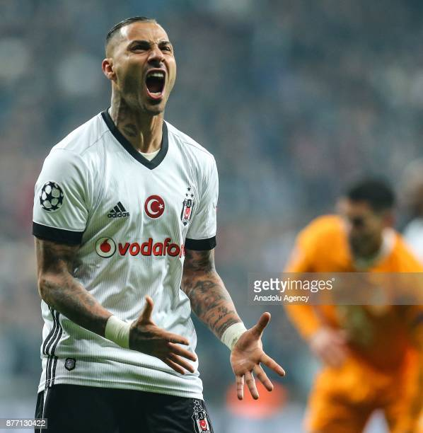 Ricardo Quaresma of Besiktas gestures during the UEFA Champions League Group G soccer match between Besiktas and Porto at the Vodafone Park in...