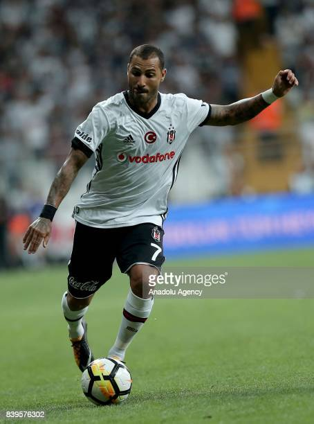 Ricardo Quaresma of Besiktas in action during a Turkish Super Lig soccer match between Besiktas JK and Bursaspor at Vodafone Park in Istanbul Turkey...