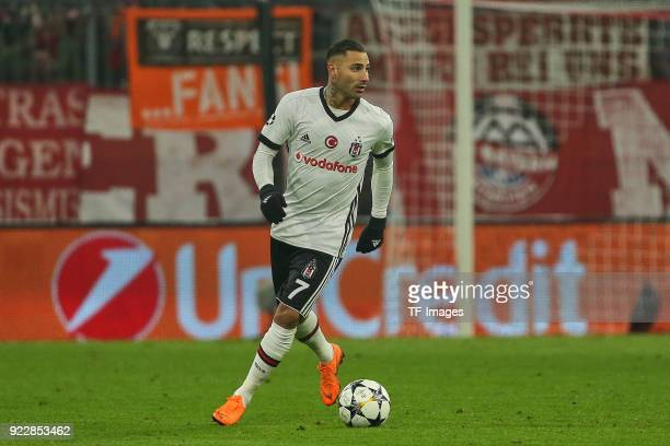 Ricardo Quaresma of Besiktas Istanbul controls the ball during the UEFA Champions League Round of 16 First Leg match between Bayern Muenchen and...