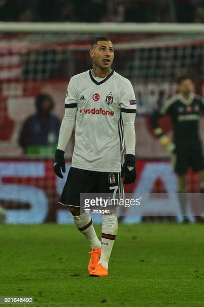 Ricardo Quaresma of Besiktas Istanbul looks dejected during the UEFA Champions League Round of 16 First Leg match between Bayern Muenchen and...
