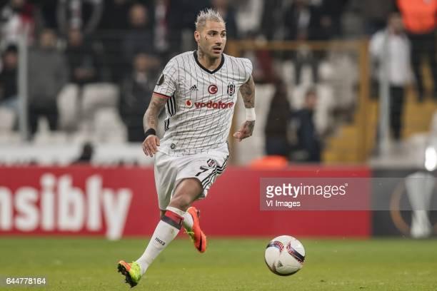 Ricardo Quaresma of Besiktas JKduring the UEFA Europa League round of 16 match between Besiktas JK and Hapoel Beer Sheva on February 23 2017 at the...