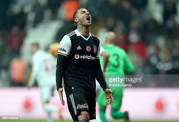 Ricardo Quaresma of Besiktas reacts during the Turkish Spor Toto Super Lig match between Besiktas and Gaziantepspor at Vodafone Arena in Istanbul...