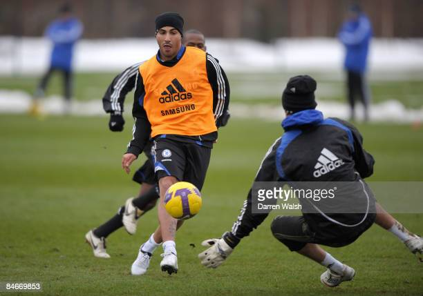 Ricardo Quaresma of Chelsea during a training session at the Chelsea FC training ground on February 06, 2009 in Cobham, United Kingdom