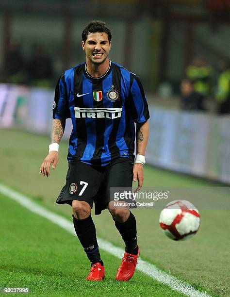 Ricardo Quaresma of FC Internazionale Milano reacts missing athe ball during the Serie A match between FC Internazionale Milano and AS Livorno Calcio...