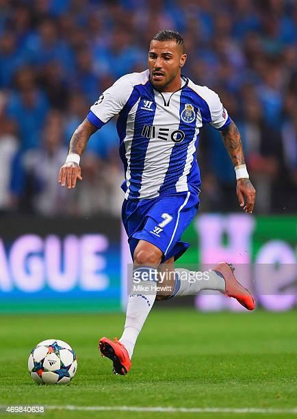 Ricardo Quaresma of FC Porto breaks through to score their second goal during the UEFA Champions League Quarter Final first leg match between FC...