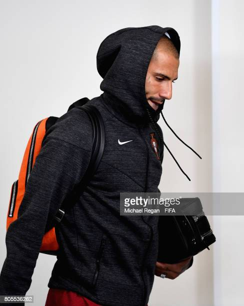 Ricardo Quaresma of Portugal arrives at the stadium prior to the FIFA Confederations Cup Russia 2017 PlayOff for Third Place between Portugal and...