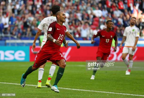 Ricardo Quaresma of Portugal celebrates scoring his sides first goal during the FIFA Confederations Cup Russia 2017 Group A match between Portugal...