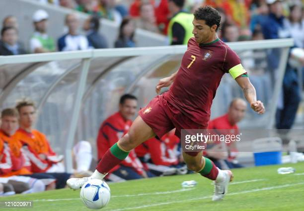 Ricardo Quaresma of Portugal during the UEFA European Under21 Championship match in Braga Portugal on May 23 2006 France came out with a 10 victory...