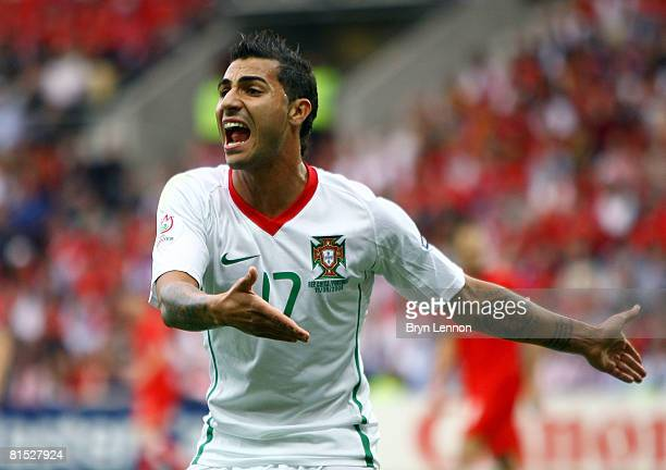 Ricardo Quaresma of Portugal reacts during the UEFA EURO 2008 Group A match between Czech Republic and Portugal at Stade de Geneve on June 11, 2008...