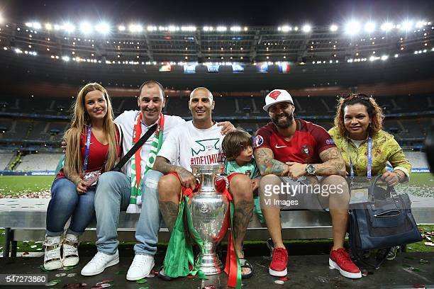 Ricardo Quaresma of Portugal with family and friends during the UEFA EURO 2016 final match between Portugal and France on July 10 2016 at the Stade...