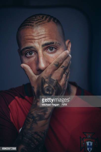 Ricardo Quaresma poses for a picture during the Portugal team portrait session on June 15 2017 in Kazan Russia