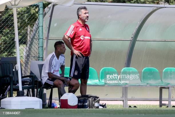 Ricardo Quaresma sits on substitutes' bench after getting injured at a training session ahead of the Turkish Super Lig 20192020 season at Hasan Dogan...