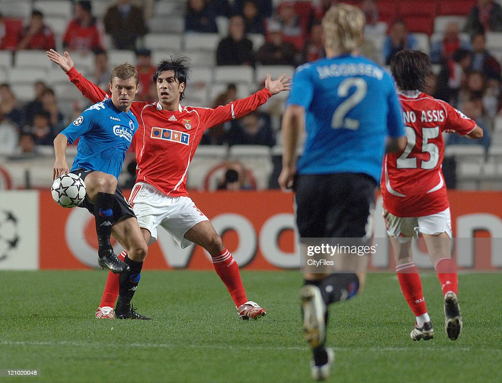 Ricardo Rocha of Benfica during the UEFA Champions Leage, Group F SL Benfica vs FC Copenhagen at Luz Stadium in Lisbon, Portugal on November 21, 2006