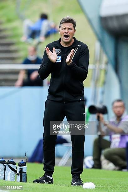 Ricardo Rodriguez coach of Tokushima Vortis in action during the J.League J2 match between Tochigi SC v Tokushima Vortis at Tochigi Green Stadium on...