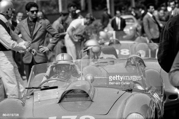 Ricardo Rodriguez Ferrari Dino 196S Targa Florio Sicily 05 August 1960 Ricardo Rodriguez at the start of the 1960 Targa Florio