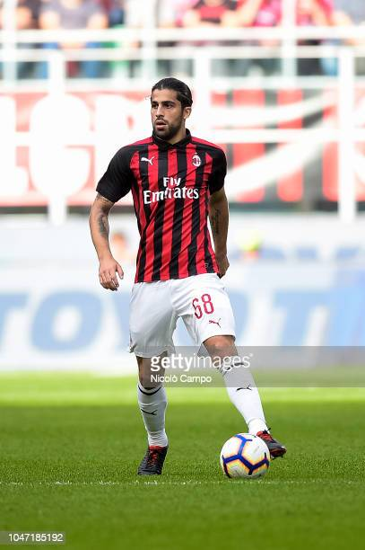 Ricardo Rodriguez of AC Milan in action during the Serie A football match between AC Milan and AC ChievoVerona AC Milan won 31 over AC ChievoVerona