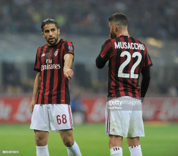 Ricardo Rodriguez of Milan player and Matteo Musacchio of Milan player during the match valid for Italian Football Championships Serie A 20172018...